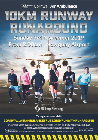 Bishop Fleming announced as title sponsor for Cornwall's Runway Runaround 10k