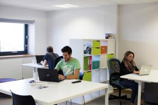 Professional co-working office space and hot desking