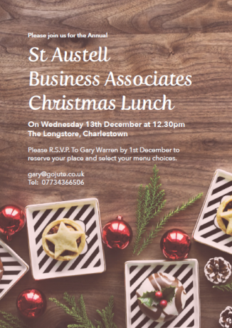 St Austell Business Associates Christmas Lunch